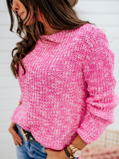Sweter FEMME melange pink