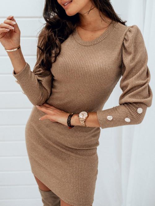 Sukienka BILLI Bodycon GOLD/CAMEL