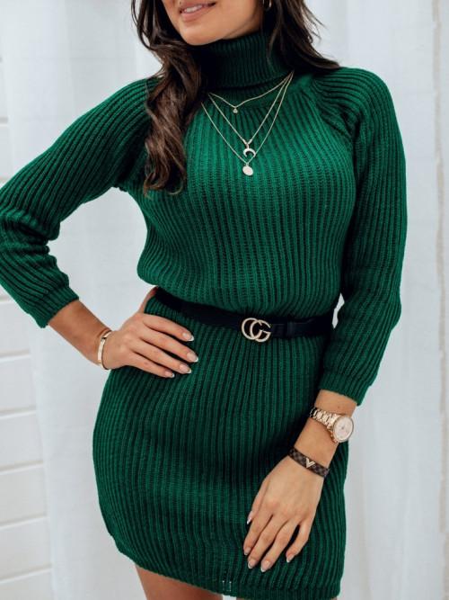 Sukienka MIRACALE butelkowa zieleń golf