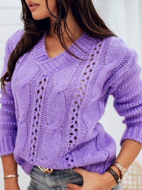 Sweter V-NECK MONTANNA ażur