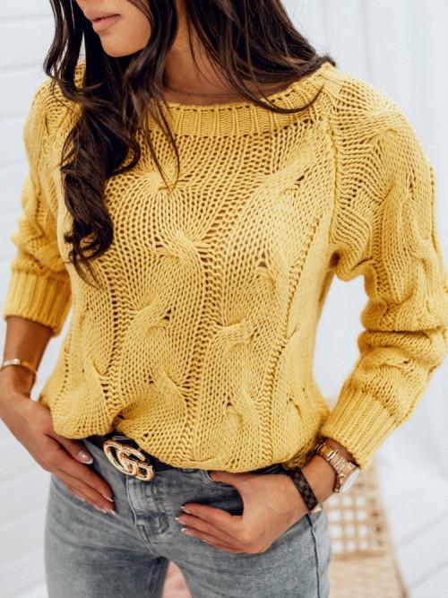 Sweter MALESSA WARKOCZ yellow