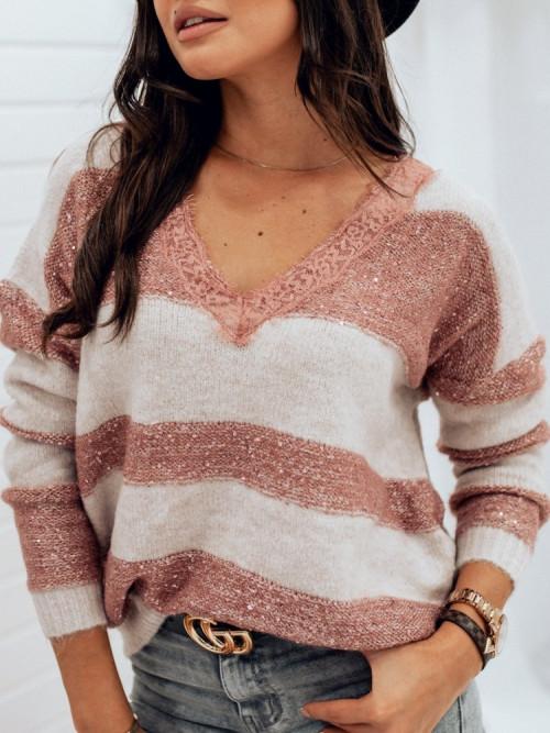 Sweter V-Neck KORONKA PARIS