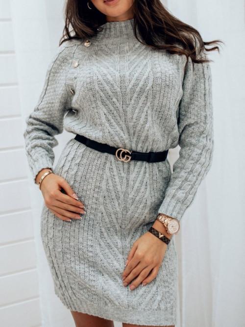 Sukienka SWETERKOWA WARKOCZ gray
