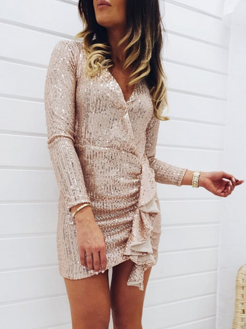 Sukienka CELEBRITY Gold
