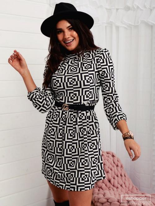 Sukienka BLACK and WHITE PRETTY