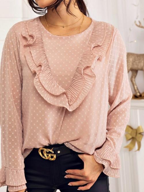 Bluzka ROSALIE pudrowy róż ELEGANCE