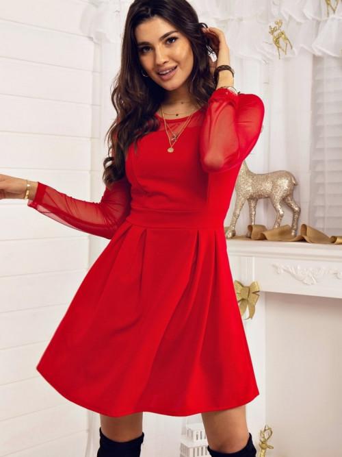 Sukienka OTTAVIA Elegance ZIPPER chili
