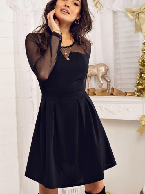 Sukienka OTTAVIA Elegance ZIPPER black