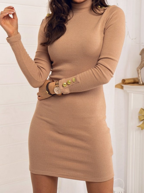Sukienka PRĄŻEK BASIC beige