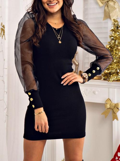Sukienka BASIC and PRETTY PRĄŻEK black
