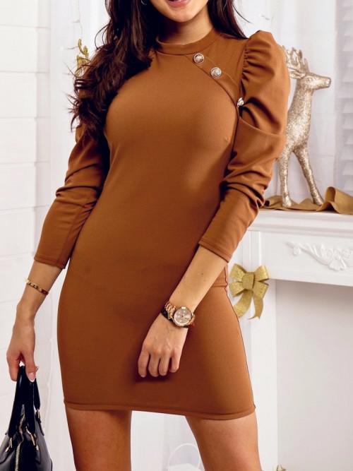 Sukienka BODYCON CLASSIC camel