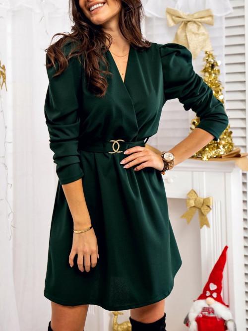 Sukienka SYMPHONIA butelkowa zieleń