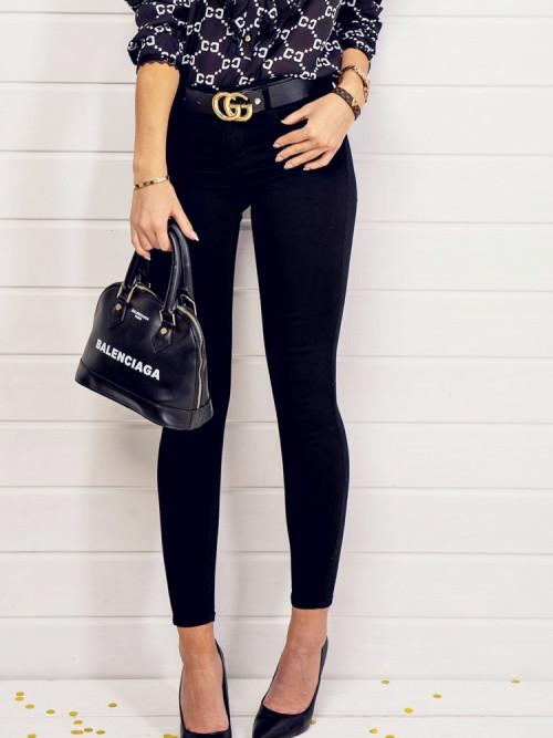 Spodnie CLASSIC BLACK SKINNY PUSH-UP
