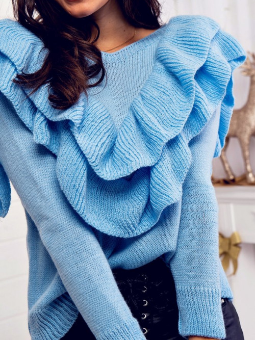 Sweter JENIFFER TREND baby blue