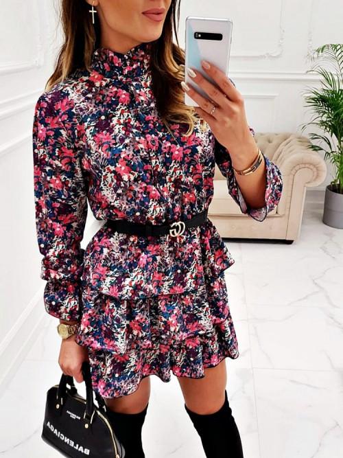 Sukienka FLOWERS Estella PINK
