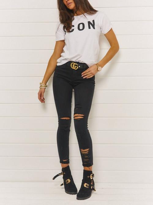 Spodnie BLACK CODE RIPPER high waist RD