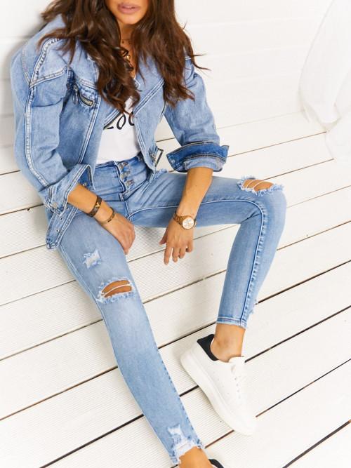 Spodnie REDIAL blue jeans high-waist