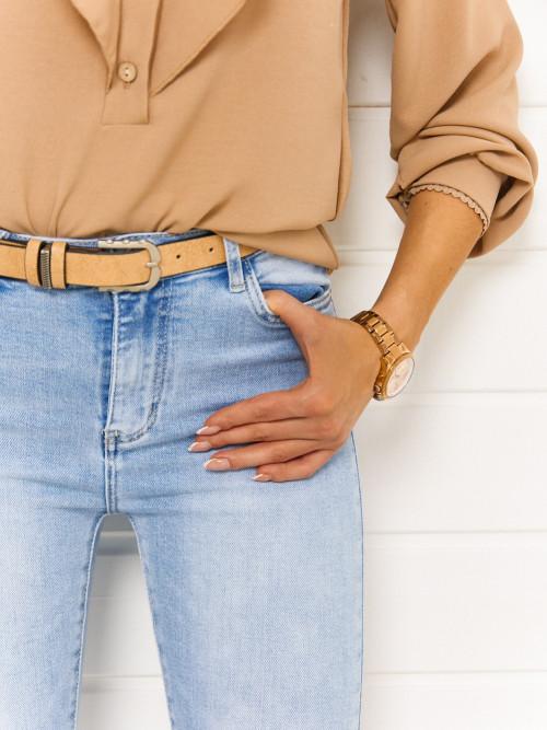 Spodnie CELIO CLASSIC light blue + PASEK