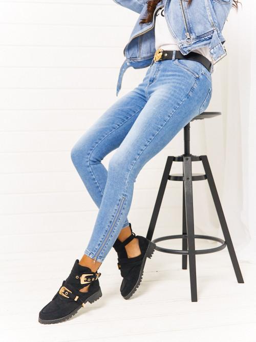 Spodnie GABO ZIPPER high waist