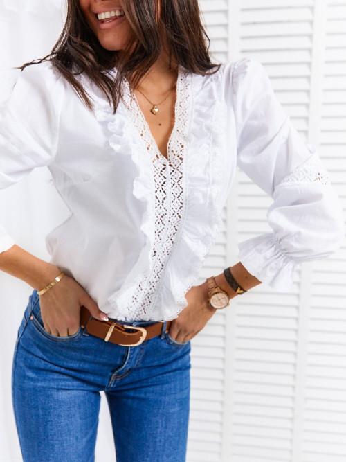 Koszula/bluzka RYAN KORONKA żabot