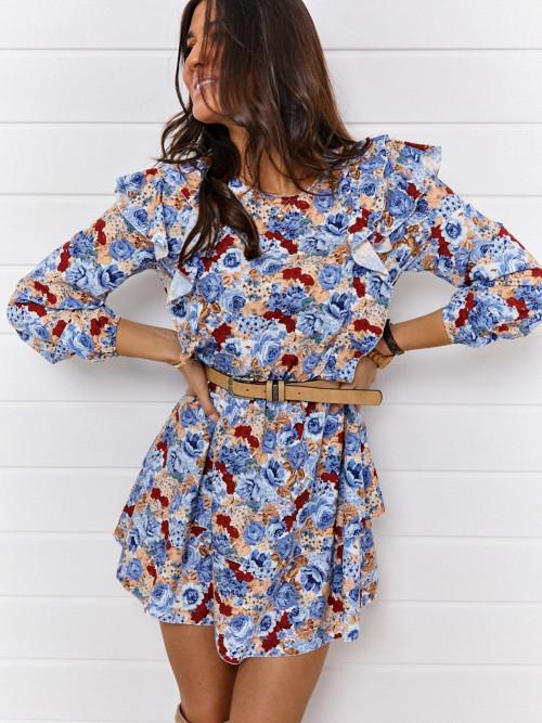 Sukienka SIMPLY FLOWERS blue