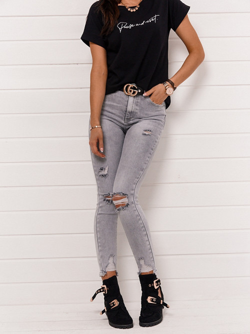 Spodnie STINO DENIM rurki HIGH WAIST