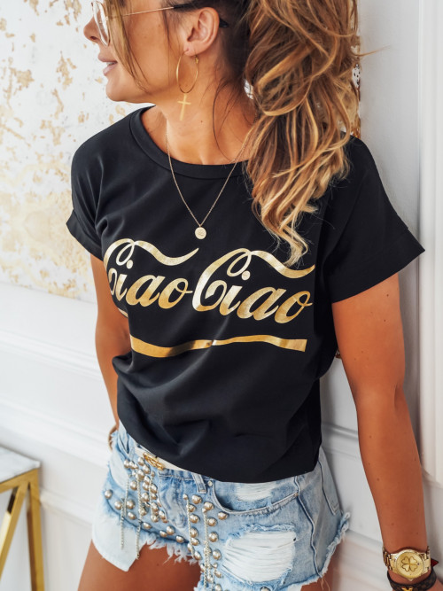 Tshirt CIAO CIAO black and gold