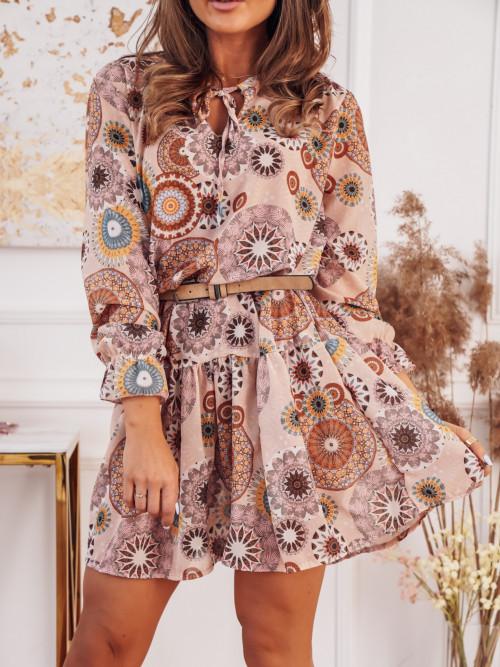 Sukienka MORANTE FUTURE nude beige