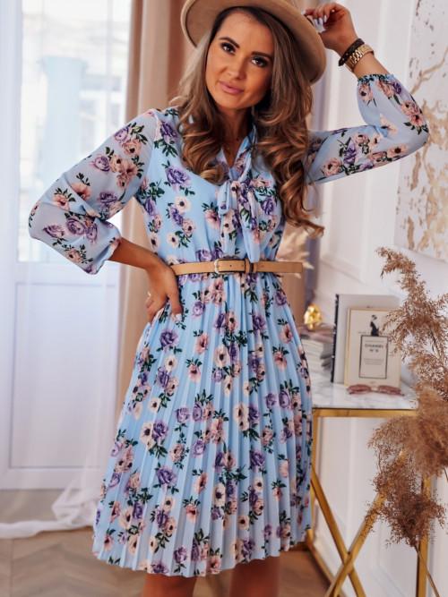 Sukienka FLOWERS spring blue