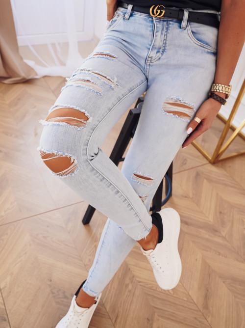 Spodnie REGGIO LIGHT high waist ripped
