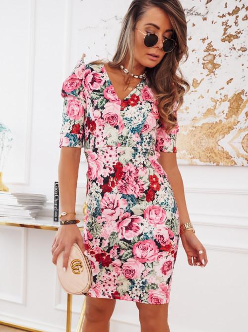 Sukienka VERONA FLOWERS róż