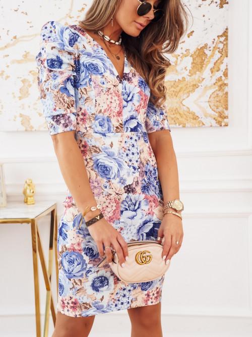 Sukienka VERONA FLOWERS blue