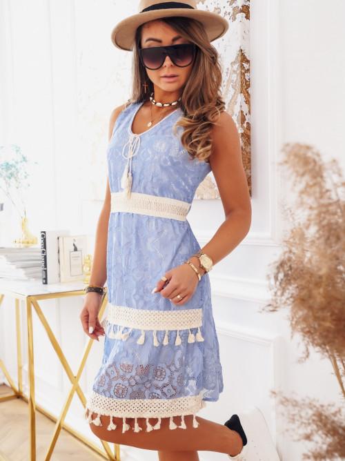 Sukienka BOHO BABY BLUE koronka
