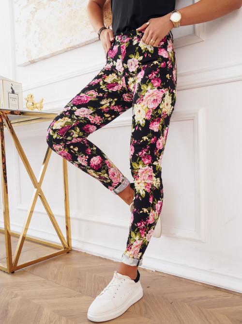 Spodnie KENLLO FLOWERS high waist
