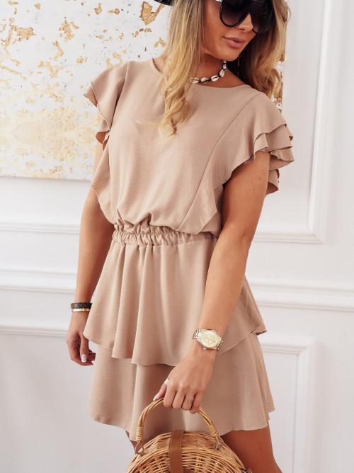 Sukienka CINDY SUMMER nude beige
