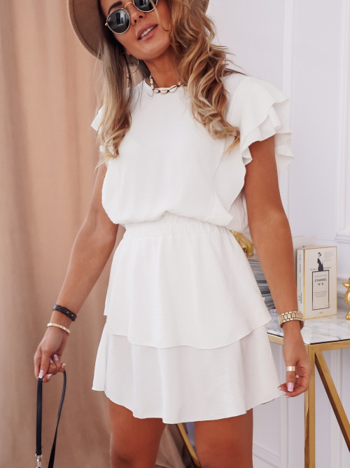 Sukienka CINDY SUMMER elegance white