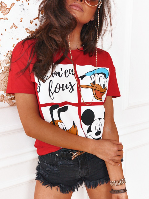 Tshirt MICKEY and FRIENDS red