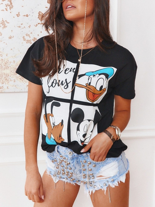 Tshirt MICKEY and FRIENDS czerń