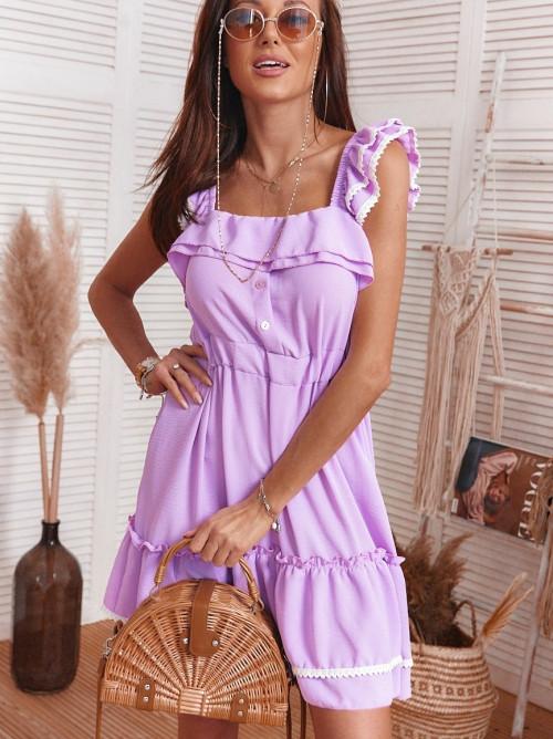 Sukienka COSTA PORTA koronka fiolet