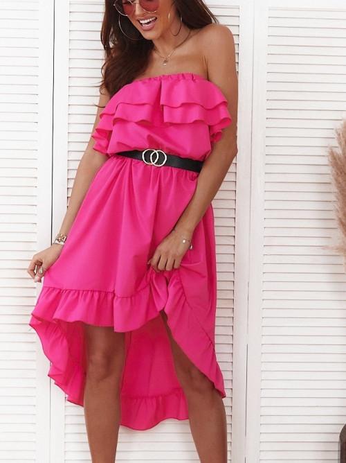 Sukienka ARUBA SUMMER asymetryczna fuksja