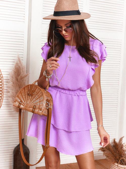 Sukienka LOCCA elegance motylek fiolet