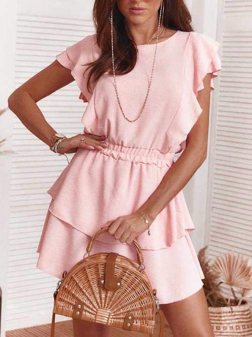 Sukienka LOCCA elegance motylek puder