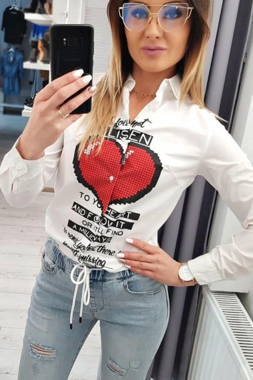 Koszula ETTORE LOVERS slim-fit WHITE