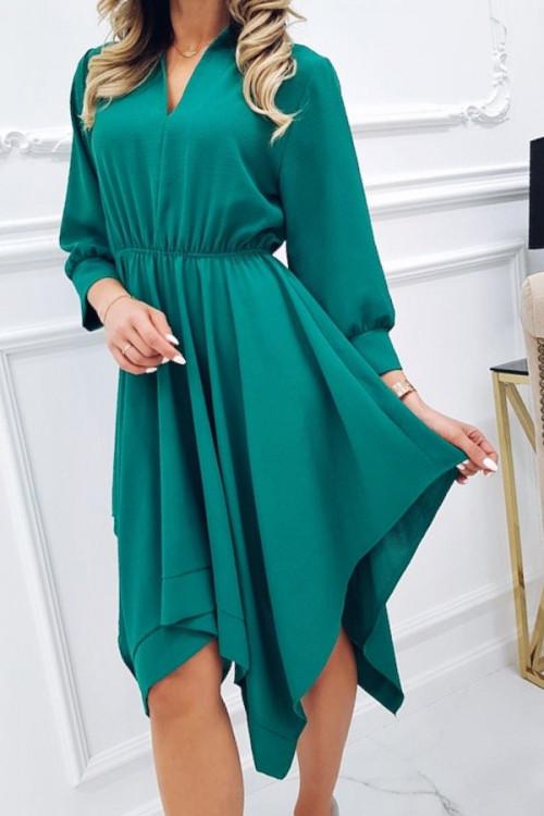 Sukienka ASYMETRYCZNA JADOR GREEN