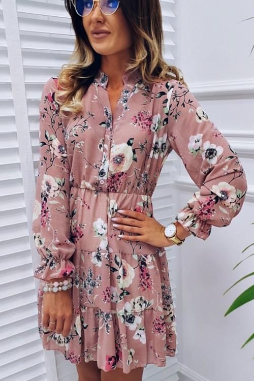 Sukienka CLARA FLOWERS puder