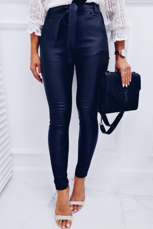 Spodnie WOSKOWNE MAT elegance czarne