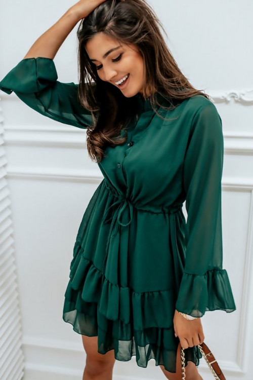 Sukienka ITALIANO PARKA butelkowa zieleń
