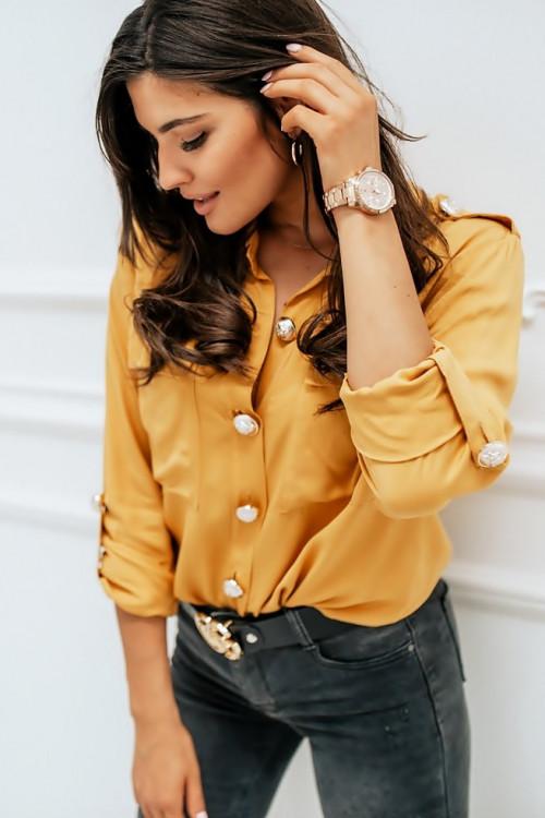 Koszula CHASCO ROLL-UP yellow