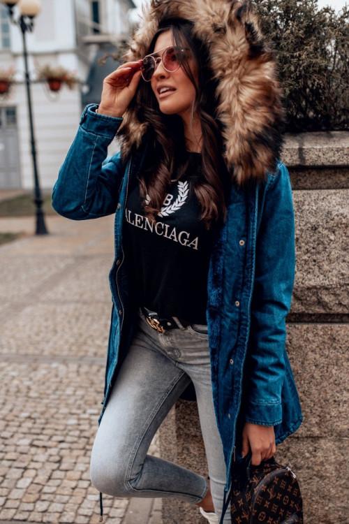 Denim PARKA ALASKA jeansowa