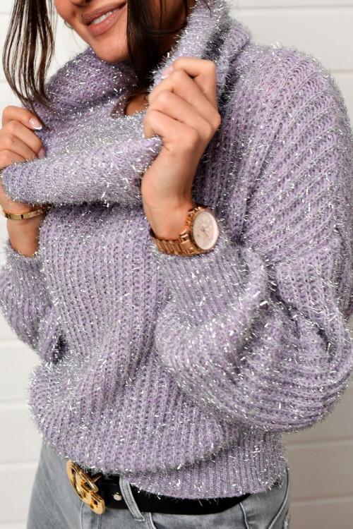 Sweter LIFESTYLE srebrna nić KOMIN